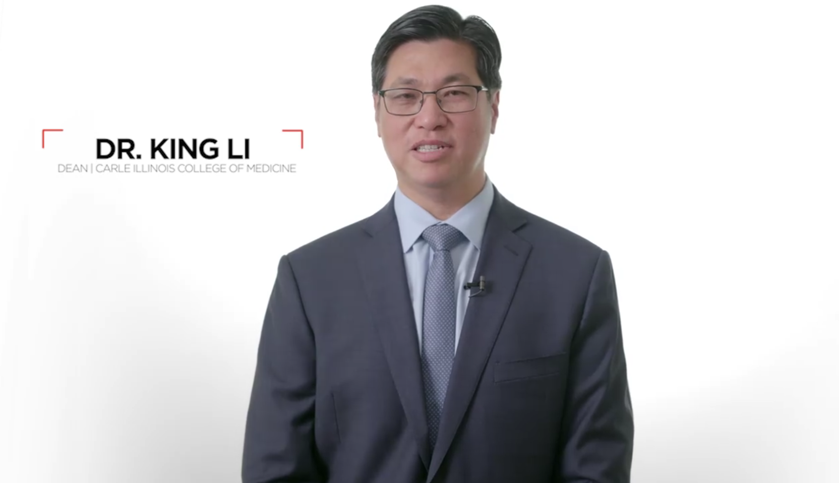 Dr. King Li, Carle Illinois College of Medicine, prospective student video message