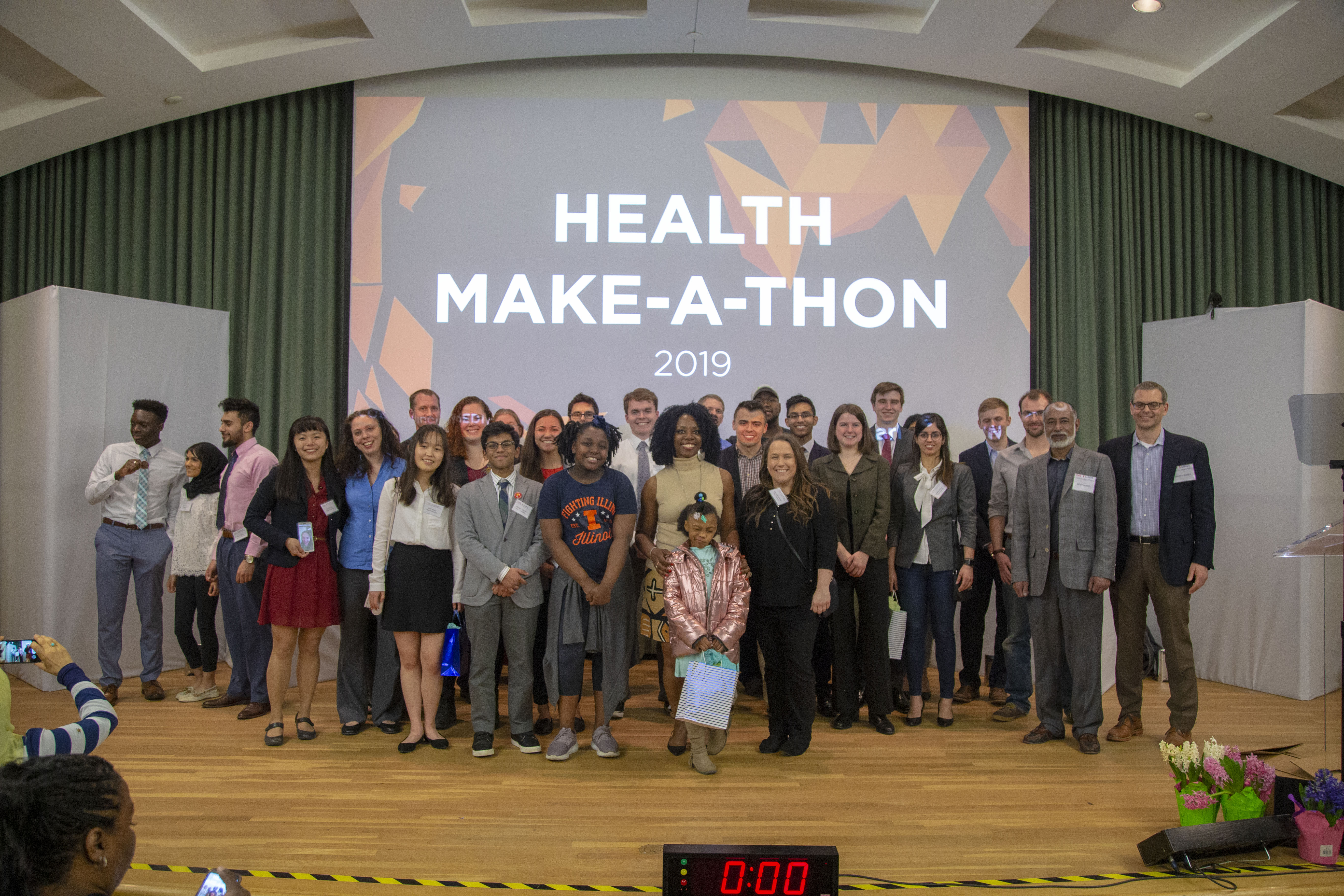 A group of inspiring finalists at the Carle Illinois College of Medicine Health Make-a-Thon.