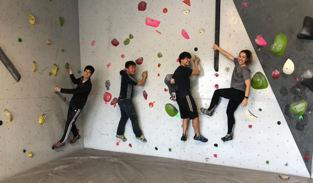 Bouldering with Classmates, Carle Illinois College of Medicine, University of Illinois at Urbana-Champaign